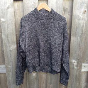 Zara Knit Charcoal Metallic Sweater